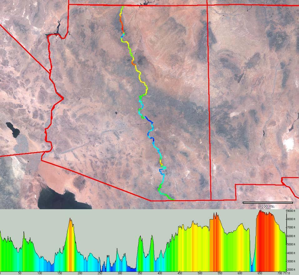 Cycling the Arizona Trail - Mountain bike route, trip log, maps, GPS