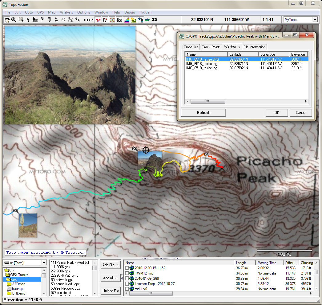 Gps Elevation Map.Topofusion Com Gps Mapping Software For Windows