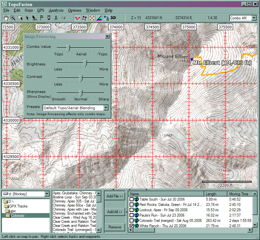 Topofusion user manual main window sciox Image collections